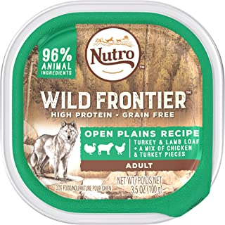 DISCONTINUED: NUTRO Wild Frontier Open Plains Recipe Turkey and Lamb Loaf With a Mix of Chicken and Turkey Pieces Dog Food Trays 3.5 Ounces (Pack of 24)