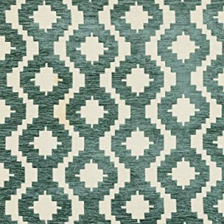 McAlister Textiles Arizona   Duck Egg Blue Tribal Abstract Curtain Fabric DIY Sewing + Crafting Material   Fabric Swatch 3x7 Inches