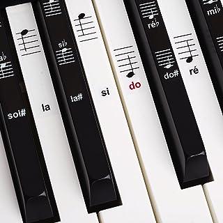 Belfort®️ Autocollants pour notes de piano + clavier pour 49   61   76   88 touches + Ebook gratuit   kit complet premium ...