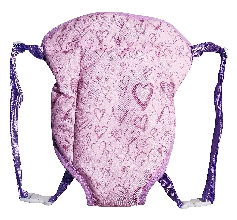 Zoya Baby Doll Carrier for Kids, Cute Purple, Adjustable Straps