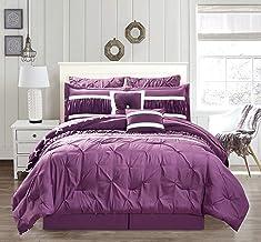 Duck River Marlin Pintucked Comforter Set, King, Plum