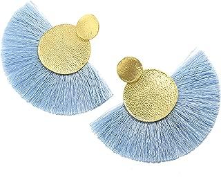 MOOCHI Colorful Thread Tassel Dangle Drop Earrings Jewelry for Women Girls Stud Bohemian Fashion Statement Fringe Wedding vintage Costume Boho Engagement gifts