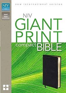 NIV, Giant Print Compact Bible, Bonded Leather, Black