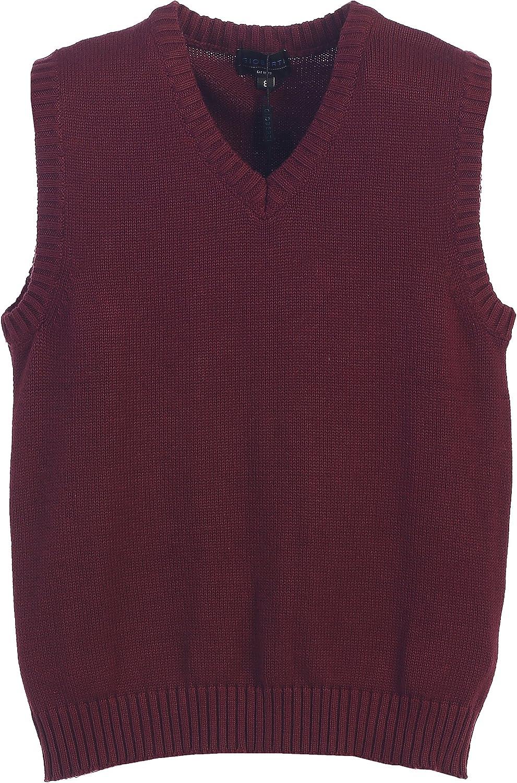 Gioberti Boy's V-Neck 100% Cotton Knitted Pullover Sweater Vest