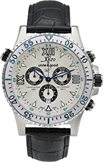 Xezo Men's D45-Sl Air Commando Swiss-Quartz Luxury Sports Chronograph Watch