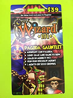 Wizard101 Pagoda Gauntlet Online Game Membership Card