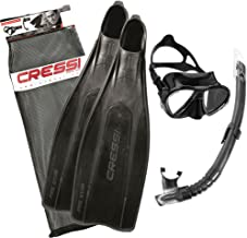 Cressi Pro Star Bag Diving Snorkeling Set in Black - 45/46