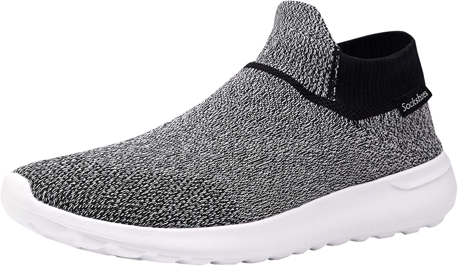 Phefee Mens Ultrasock shoes Fashion Casual Walking Sneakers for Lightweight and Super Soft Footwear(Black40)