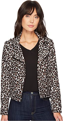 Sanctuary - Poison & Leopard Moto Jacket