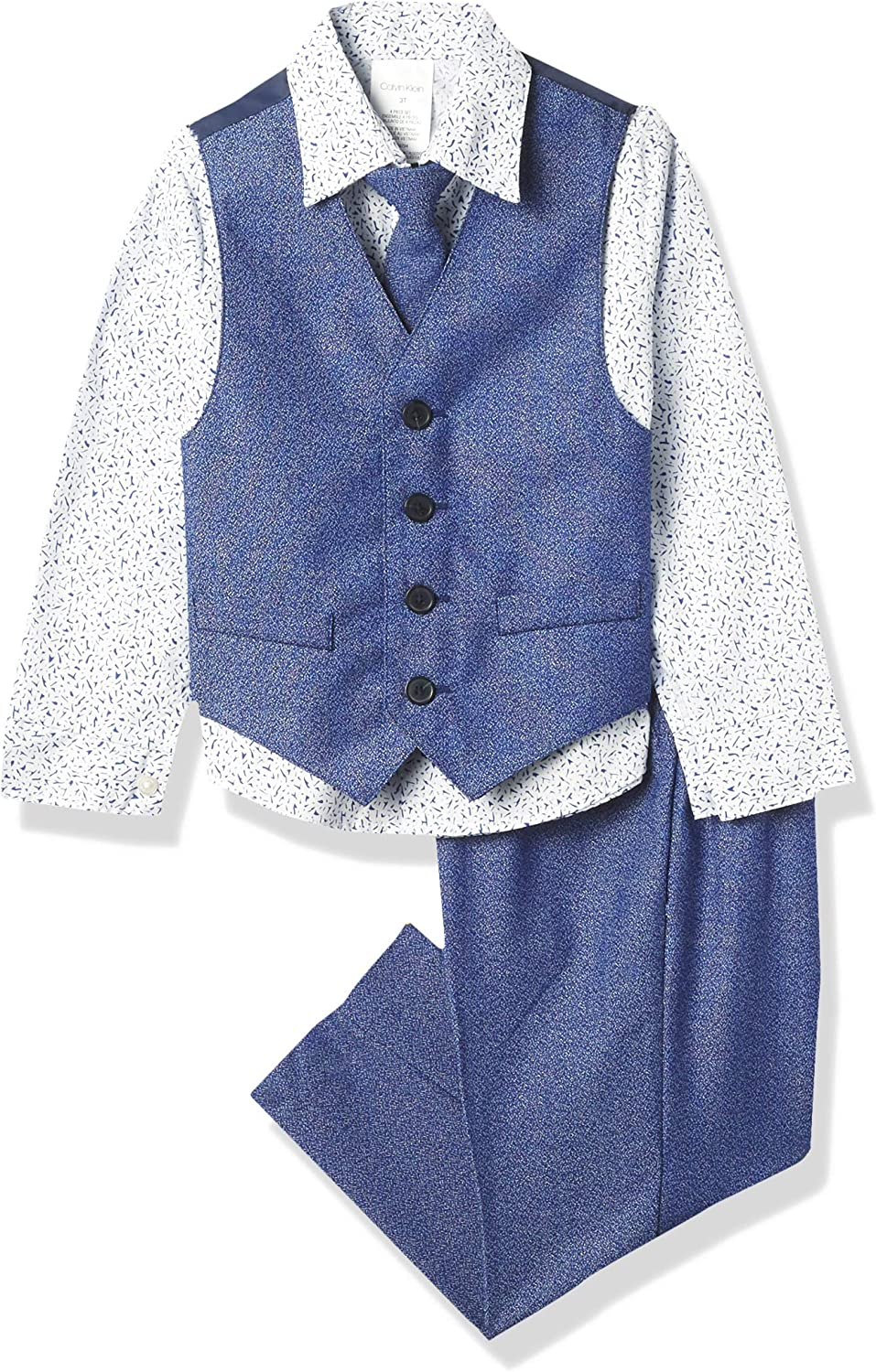 Calvin Klein 5% OFF All items free shipping Boys' 4-Piece Formal Set Vest Suit