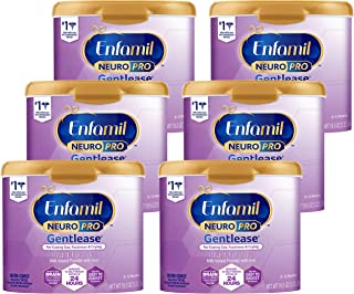 Enfamil Neuropro Gentease Easy-to-Digest Baby Formula Powder 19.5 oz. (Pack of 6) Reusable Tub, For Easing Gas & Crying Vi...