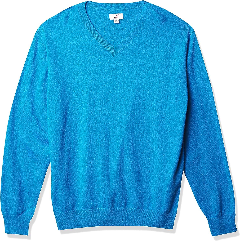 Cutter Buck Men's Big-Tall Nippon regular agency Vneck Sweater Union Lake Rare
