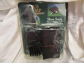 Club Champ Shoe Sack Nylon Golf Shoe Sack with Separating Pockets