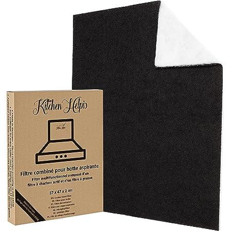 Kitchen Helpis® Filtre hotte cuisine, CHARBON ACTIF & FILTRE PLAT, filtre charbon hotte, filtre charbon, filtre hotte, filtre charbon actif, filtre a decouper, filtre graisse hotte, filtre de hotte