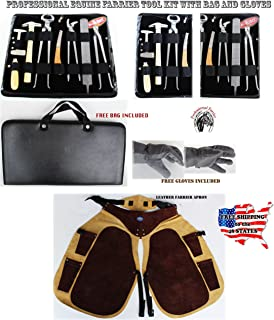 ProRider USA Horse Farrier Tool Equine Care Tool Kit Hoof Nipper Knife Gloves Apron 98498