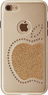 iShield - Carcasa para iPhone 6/6S/7/8/SE(2), diseño de manzana del Rey con 51 cristales de Swarovski, de aluminio satinado con cristales Swarovski
