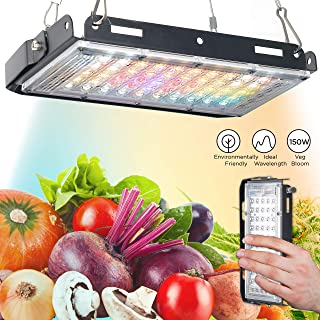 ECRU LED Grow Light Panel - 150W Equivalent Grow Lights with Natural Full Spectrum LED Light Bulbs for Indoor Plant Vegetation and Flowering - LED Indoor Grow Light