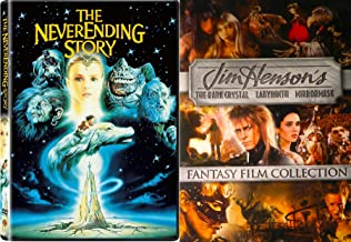 Fantasy Film Collection 4-Pack Jim Henson's Labyrinth / The Dark Crystal / MirrorMask + NeverEnding Story DVD Family Movie Bundle