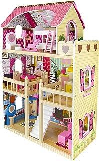 comprar comparacion Leomark Casa de Muñecas de Madera - Bella Residencia - Equipo Completo, con muñecas, Excelente Calidad, Accesorios adicion...