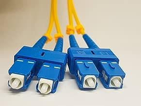 SC to SC SingleMode 15M Fibre Optic Patch Cable, SC/SC Duplex 9/125 Single Mode 15M (49.21ft) Fiber Patch Cable,Single Mode Fiber Cables SC to SC, 3MM Yellow PVC.