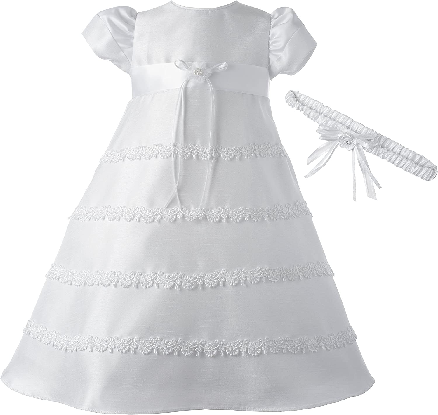 Lauren Madison Baby-Girls Newborn Special Occasion Shantung Dress Gown Outfit