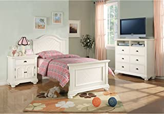 Picket House Furnishings Addison 5 Piece Full Bedroom Set in White