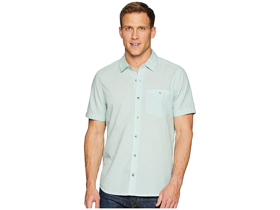Toad&Co Airbrush Levee Short Sleeve Shirt (Aquifer) Men