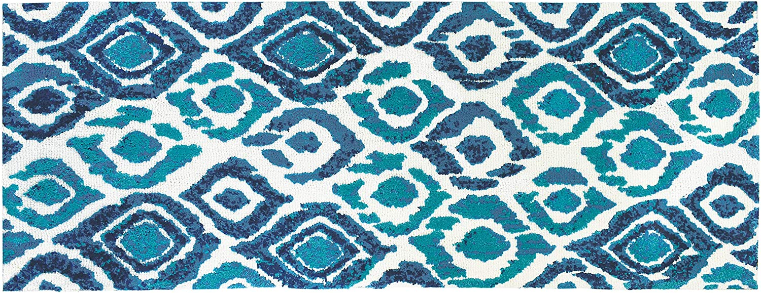Simple A surprise price is realized Spaces Blue Rare Green Ikat x Indoor 54