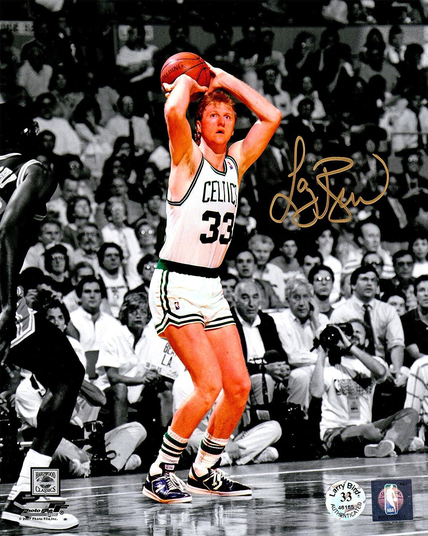 Larry Bird Boston Celtics Jump Shot Spotlight 8x10 Photo