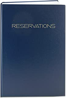 BookFactory Reservations Book, 365 Day Table Reservations, Restaurant Dinner Reservations, 408 Pages, 8 7/8