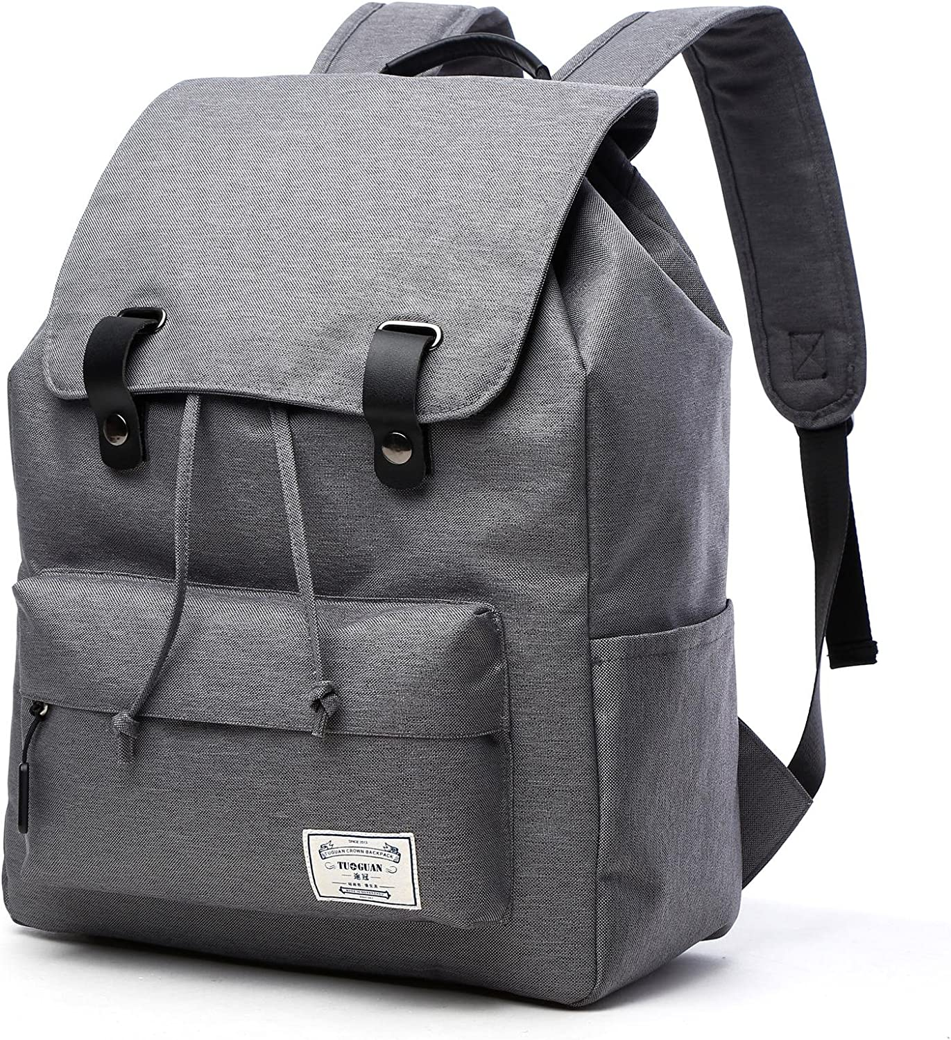 Loiee Max 62% OFF Vintage Canvas Super-cheap Backpack Casual Rucksack Fits up 15.6 In to