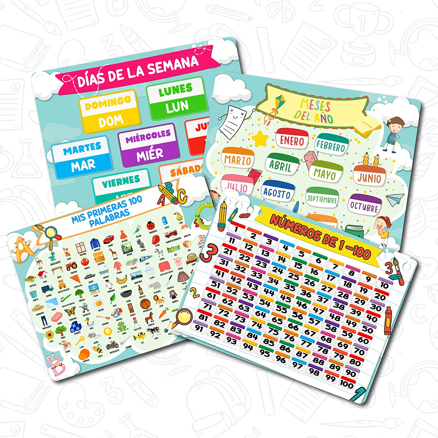 Yar-Yur Home Educational Placemat for New product! New type Slip Writeable Non Tampa Mall Kids