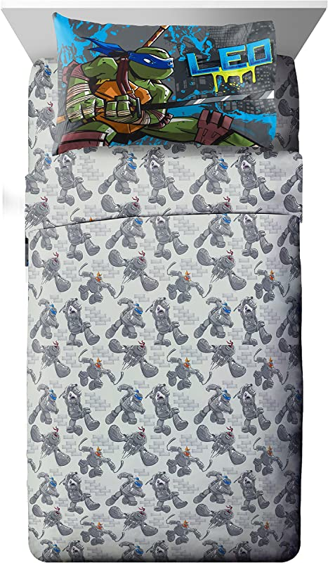 Nickelodeon Teenage Mutant Ninja Turtles Cross Hatching Soft Microfiber Twin 3 Piece Sheet Set