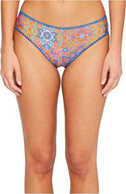 Luli Fama Candela Stitched Ruched Full Bikini Bottom