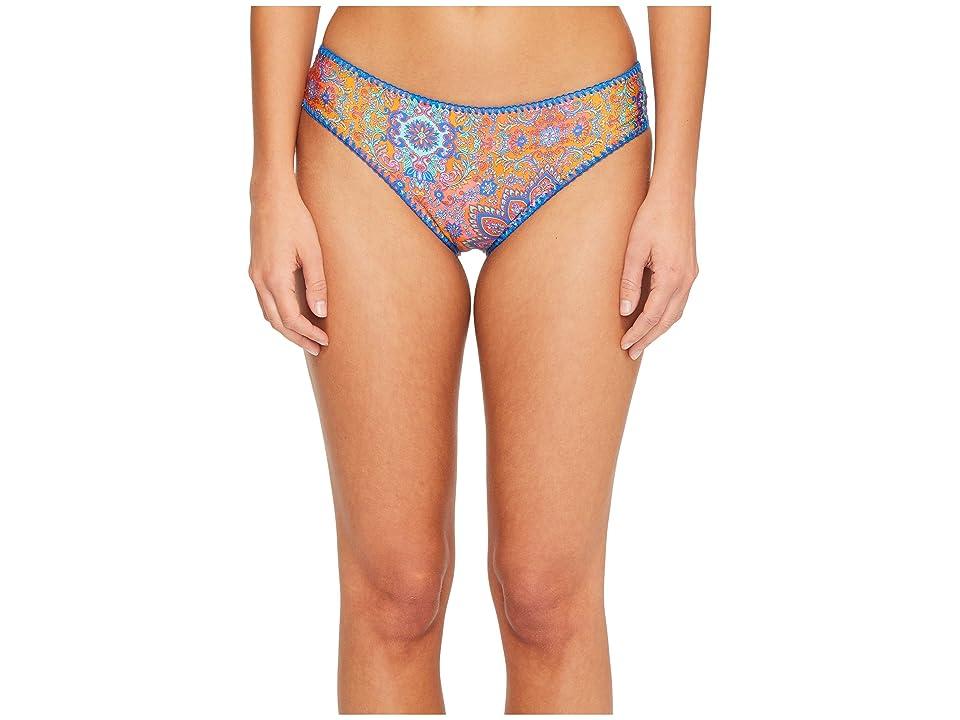 Luli Fama Candela Stitched Ruched Full Bikini Bottom (Multi) Women