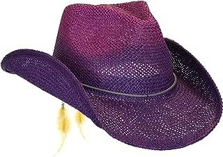 Women's Toyo Straw Summer Cowboy Hat w/Shapeable Brim