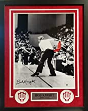 Bob Knight Indiana Hoosiers Signed Autograph Custom Framed Photo Suede Matted 26x28 Photograph Steiner Sports Certified