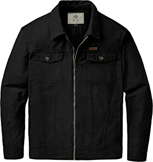 WenVen Men's Military Fall Lightweight Cotton Jackets