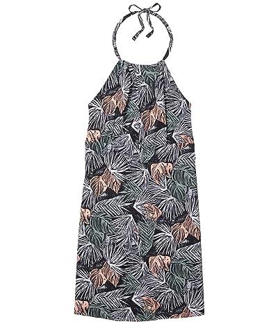 Columbia Armadaletm II Halter Top Dress (Black Feathery Leaves) Women