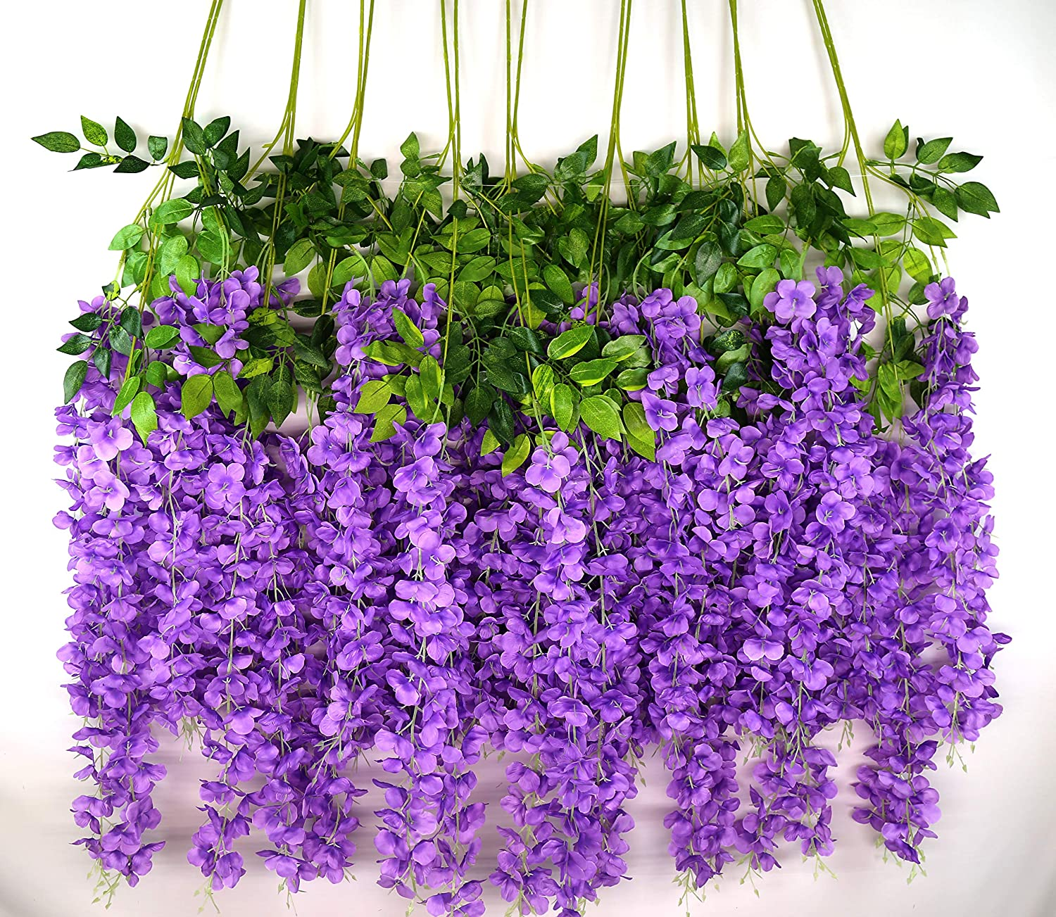 iWISTERIA 36 高級な Pack 3.6FT Artificial 至高 Flowers Wedding Hanging Decor