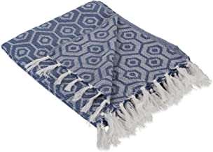 DII Modern Cotton Geometic Blanket Throw with Fringe for Chair, Couch, Picnic, Camping, Beach, & Everyday Use, 50 x 60 - H...