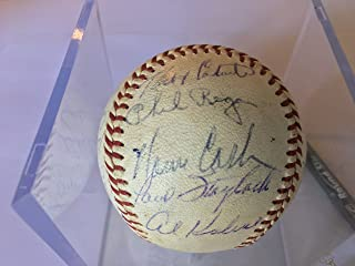 1960-63 Detroit Tigers Team Signed Baseball Al Kaline-Rocky Colavito-Norm Cash ++Certified Authentic