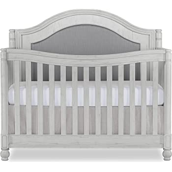 Evolur Kendal Curve Top 5 in 1 Convertible Crib, Antique Grey Mist