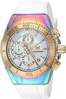 TechnoMarine Men 's ' Cruise ' Quartzステンレススチールand Silicone Casual Watch, Color : White (Model : tm-115369)