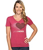 Life is Good - Life is Good® Heart Stripe Cool Vee