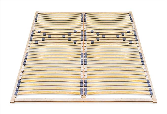 ECOFORM - Somier de láminas (160 x 200 cm, dureza regulable: 120/140/160/180/200 x 200 cm)