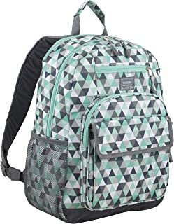 Tech Backpack, Mint/Ash Gray/Triangle Print