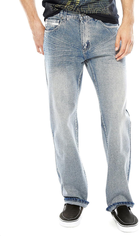 Ecko Unltd. Men's Loose Fit 5 Long Pocket Colorado Springs Mall Jean price Denim Bottom