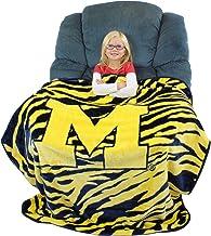 "College Covers Michigan Wolverines Raschel Throw Blanket, 50"" x 60"""