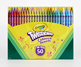 Crayola Twistables Colored Pencil Set, Kids Indoor Activities at Home, 50 Count